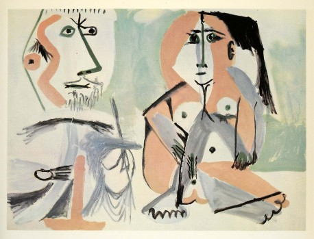 Picasso nude woman hair man