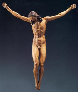 Crucifixion wooden Michelangelo in Naples
