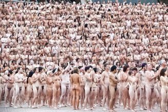 large group of naked people