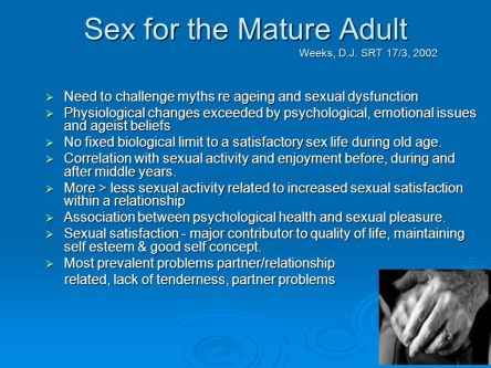 sex for the mature adult by D. J. Weeks slideplayer com